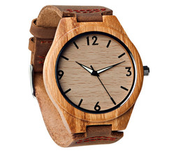 Grpn BE - Wood Engraved Watch Glow Dials W#68 - Aura