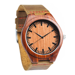 Grpn BE - Wood Engraved Watch W#59 - Garnet
