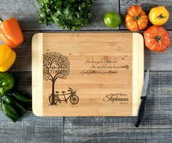 Bike Tree Personalized Cutting Board HDS