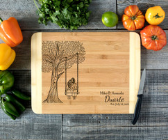 Tree Swing Personalized Cutting Board HDS