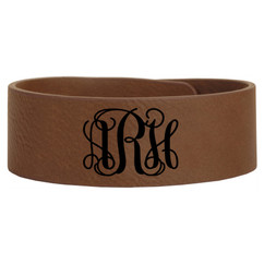 LUX -Personalized Leather Bracelet - Monogram