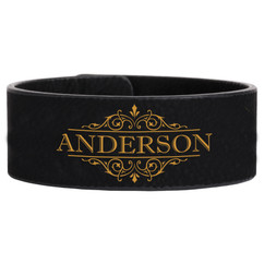 LUX - Personalized Leather Bracelet - Vine Name