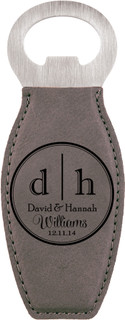 LUX - Personalized Leather Magnet Bottle Opener - Dual Initial