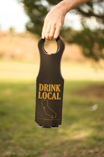 LUX  -  Leather Bottle Tote Bag - Drink Local