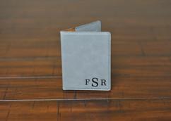 LUX  - Leather Passport Wallet Holder -Corner Masculine Monogram