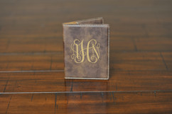 LUX  - Personalized Leather Passport Wallet Holder - Monogram