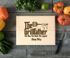 Grillfather Personalized Cutting Board BW