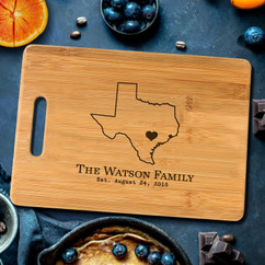 Handle Home State Personalized Cutting Board