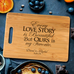 Handle Every Love Story Personalized Cutting Board