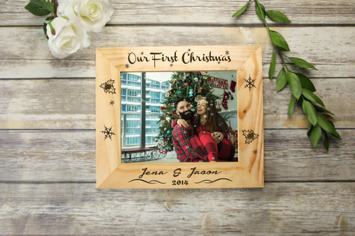 ef3bdd57a8 Personalized Picture Frame - Our First Christmas - Cabanyco