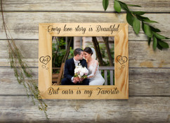 Personalized Picture Frame - Every Love Story Initials