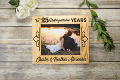 Personalized Picture Frame - Unforgettable Years Anniversary