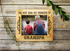 Personalized Picture Frame - Promoted to Grandpa