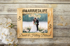Personalized Picture Frame - #marriedlife