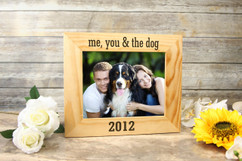 Personalized Picture Frame - Me, You, & the Dog