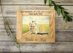 Personalized Picture Frame - All of the Love Songs