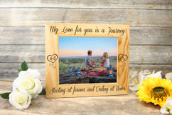 Personalized Picture Frame - Love is a Journey Initials