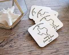 Personalized Coaster Set - Our Story Began