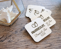 Personalized Coaster Set - #MARRIEDLIFE