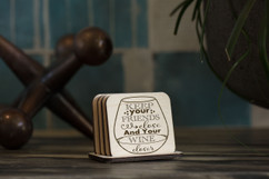 Personalized Coaster Set - Keep Your Wine Closer