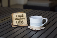 Personalized Coaster Set - I Teach, Therefore