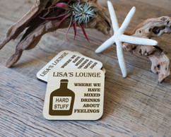 Personalized Coaster Set - Mixed Drinks