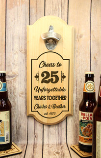Personalized Wall Mount Bottle Opener - Unforgettable Years