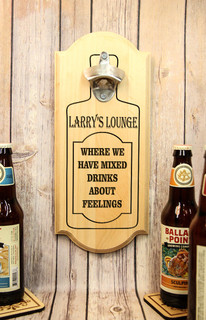 Personalized Wall Mount Bottle Opener - Mixed Drinks