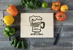 Basswood Personalized Cutting Board - Keep on Chugging