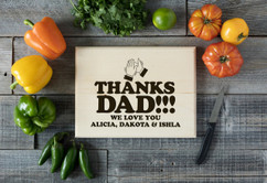 Basswood Personalized Cutting Board - Clap Hands for Dad