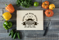 Basswood Personalized Cutting Board - Awesome Grandpa