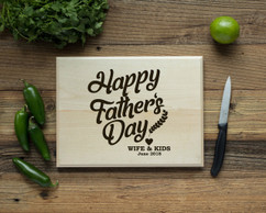 Basswood Personalized Cutting Board - Happy Father's Day