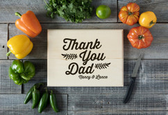 Basswood Personalized Cutting Board - Thank You, Dad
