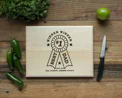 Basswood Personalized Cutting Board - Best Dad Award