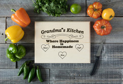 Basswood Personalized Cutting Board - Happiness is Homemade