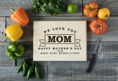 Basswood Personalized Cutting Board - Mother's Day Banner