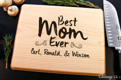Basswood Personalized Cutting Board - Best Mom Ever