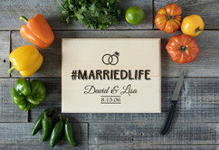 Basswood Personalized Cutting Board - #MARRIEDLIFE