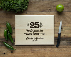 Basswood Personalized Cutting Board - Unforgettable Years