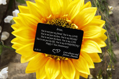 Personalized Wallet Card- Anniversary