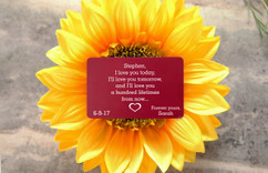 Personalized Wallet Card - I Love You Today