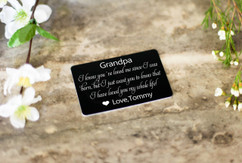 Personalized Wallet Card - Loved You My Whole Life Grandpa