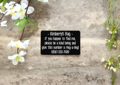 Personalized Wallet Card - Missing Bag Tag
