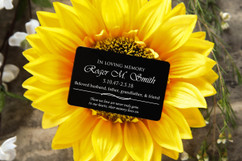 Personalized Wallet Card - In Loving Memory