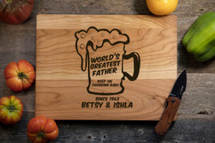 Cherry Personalized Cutting Board - Keep on Chugging