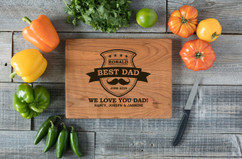 Cherry Personalized Cutting Board - Best Dad Mustache