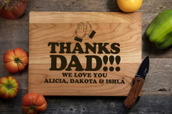 Cherry Personalized Cutting Board - Clap Hands for Dad