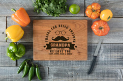 Cherry Personalized Cutting Board - Awesome Grandpa