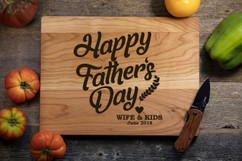 Cherry Personalized Cutting Board - Happy Father's Day