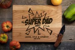 Cherry Personalized Cutting Board - Super Dad